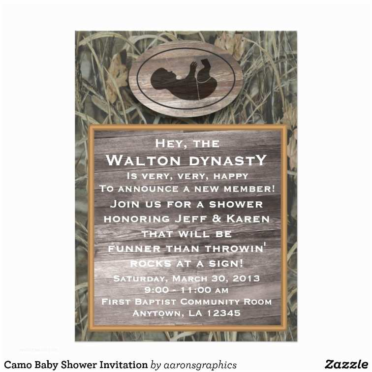 Camouflage Baby Shower Invitations It S A Boy Camo Baby Shower
