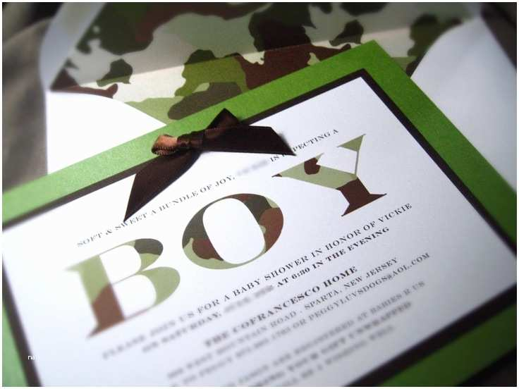 Camouflage Baby Shower Invitations Camo Baby Shower Invitations