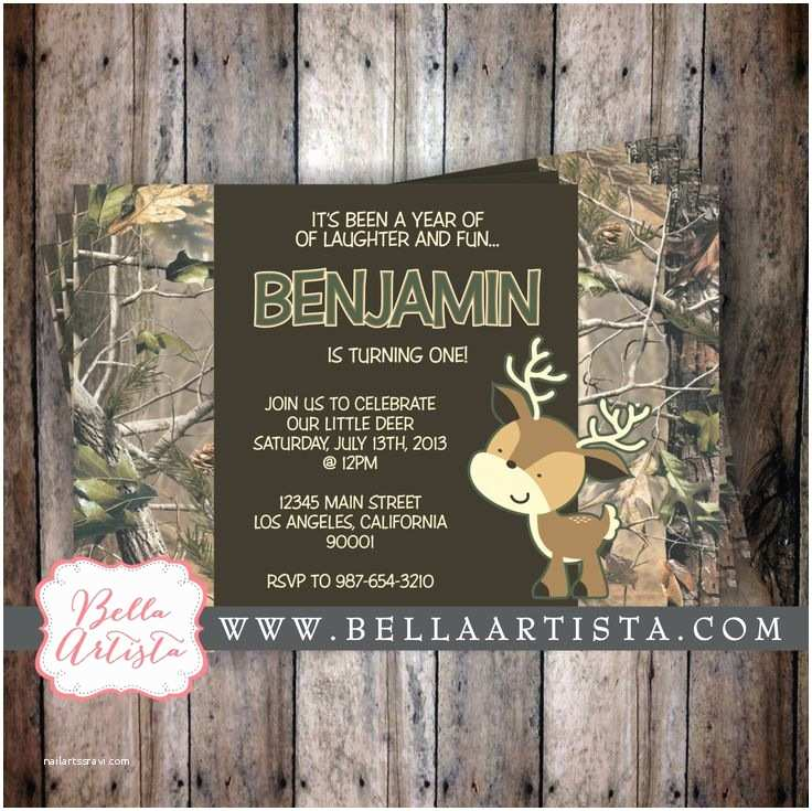 Camouflage Baby Shower Invitations Realtree Camouflage and Deer Baby Shower by
