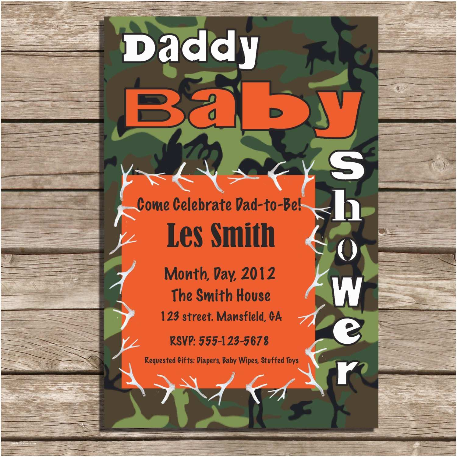 Camouflage Baby Shower Invitations Pink Camo Baby Shower Invitations