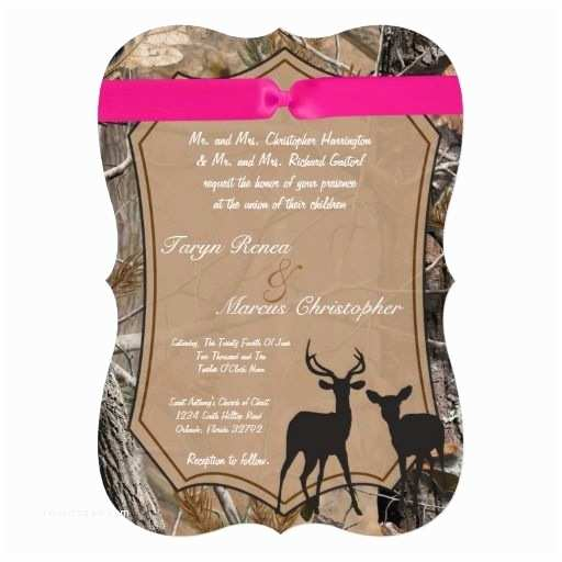 Camouflage Wedding Invitations 5x7 Hunters Camo Camoflauge Doe Wedding Invitation