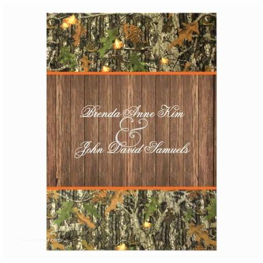 Camouflage Wedding Invitations Camo Rustic Wedding Invitation