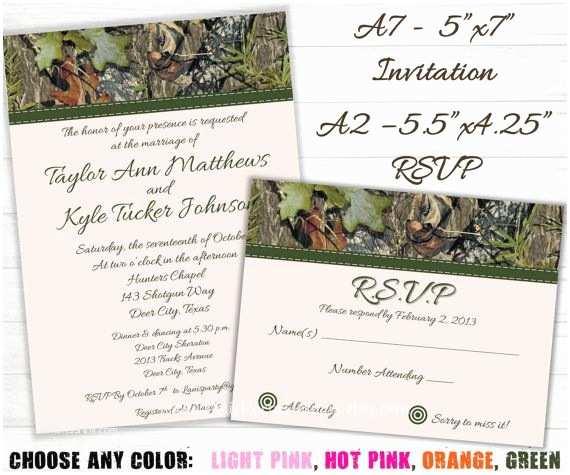 Camouflage Wedding Invitations Camo Wedding Invitation And Rsvp Cards