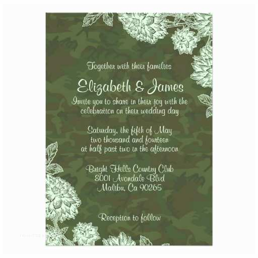 Camouflage Wedding Invitations Elegant Camo Wedding Invitations