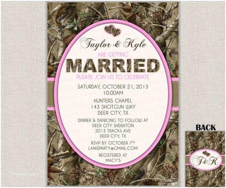 Camouflage Wedding Invitations Hunting Camo Wedding Invitation Bridal Shower