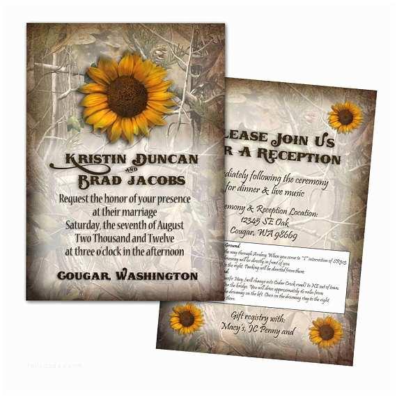 Camouflage Wedding Invitations Items Similar to Camo Wedding Invitation 25 Count On Etsy