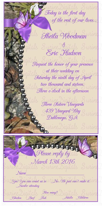 Camouflage Wedding Invitations Mossy Oak Camo Wedding Invitation Card With Matching