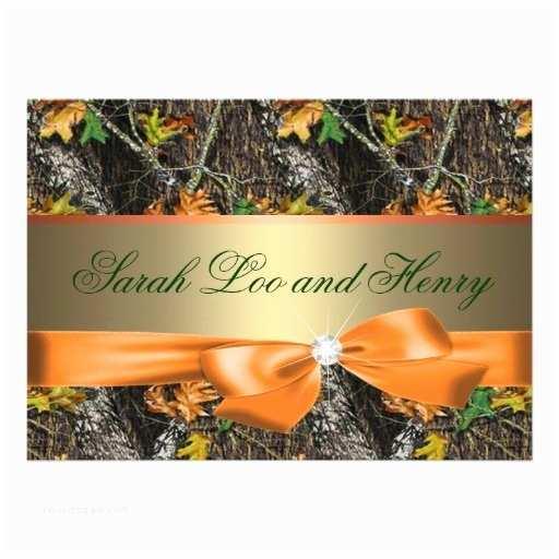 Camouflage Wedding Invitations orange formal Camo Wedding Invitation Templates for Your