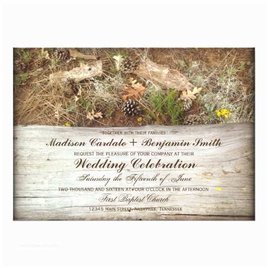Camouflage Wedding Invitations Rustic Camo and Wood Country Wedding Invitations