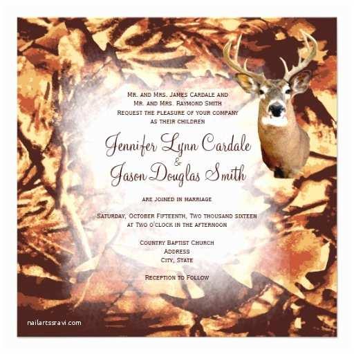 Camouflage Wedding Invitations Rustic Camo Hunting Deer Antlers Wedding Invites 5