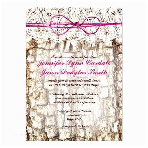 """Camouflage Wedding Invitations Rustic Country Camo Pink Bow Wedding Invitations 4 5"""" X"""
