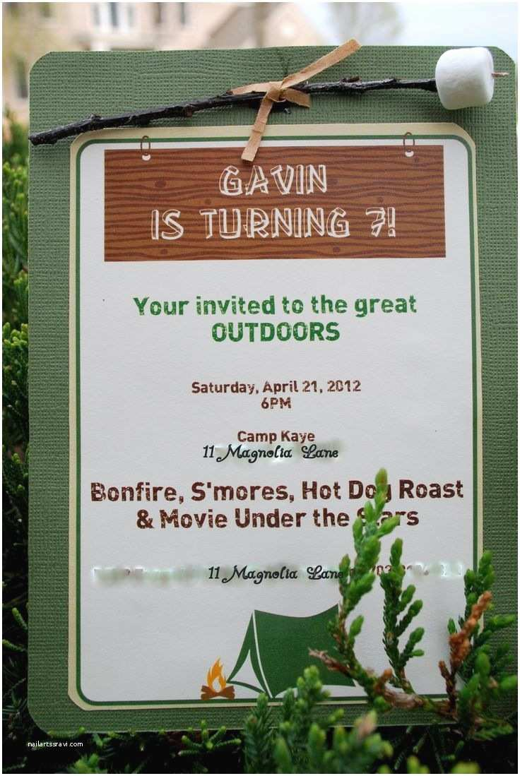 Camping Birthday Invitations 25 Best Ideas About Camping Party Invitations On