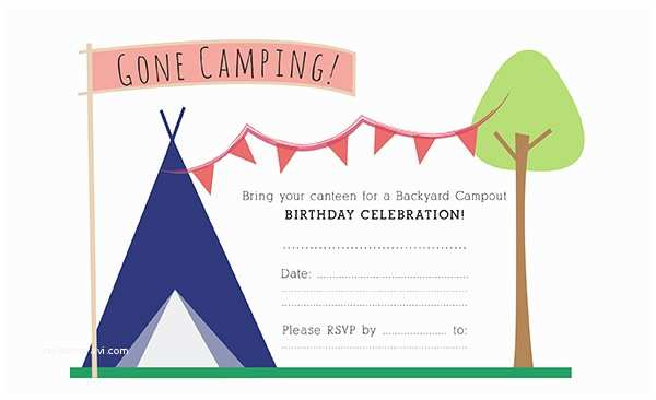 Camping Birthday Invitations Party Invitation Templates Camping Party Invitations