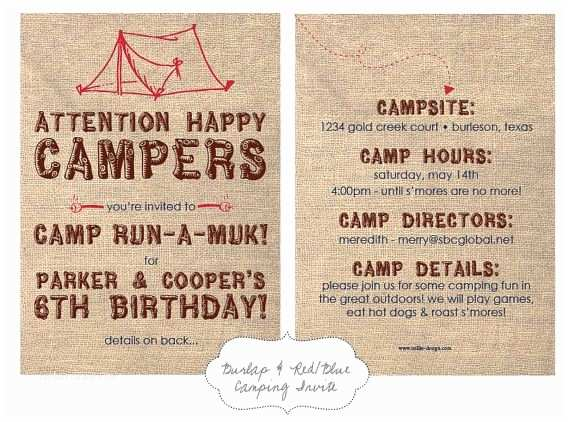 Camping Birthday Party Invitations 1000 Images About Backyard Camping Party On Pinterest