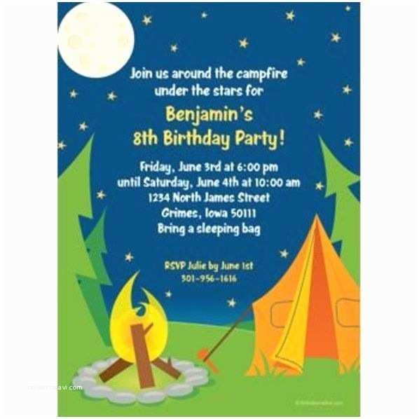 Camping Party Invitations Camping Invitation Custom Invitations & Party Supplies