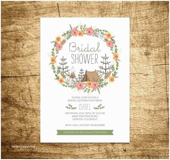 Camping Wedding Invitations 25 Best Ideas About Bridal Shower Wreaths On Pinterest