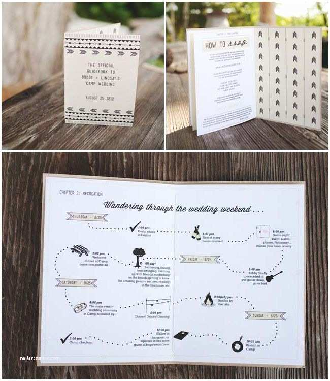 Camping Wedding Invitations 42 Best Images About Wedding Weekend Itinerary On