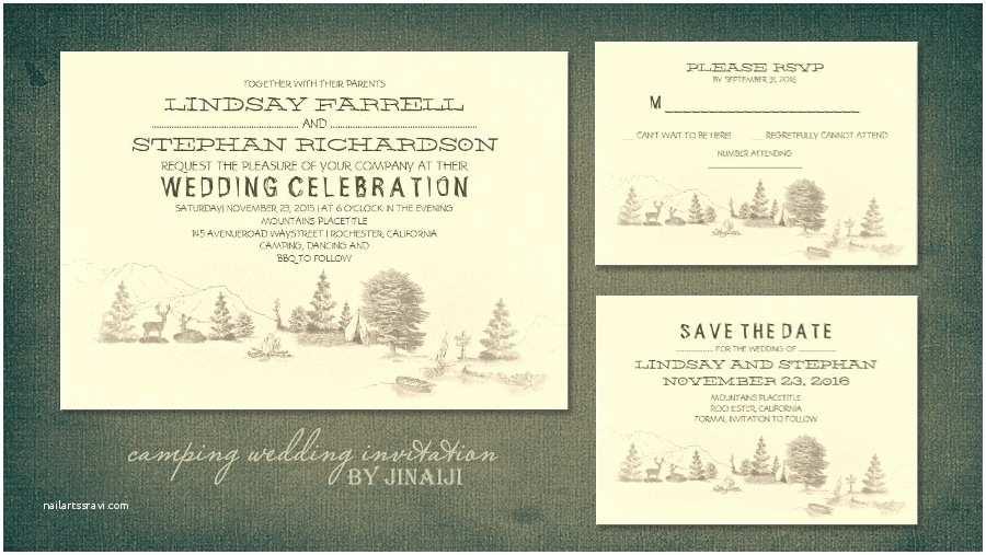 read more camping wedding invitation