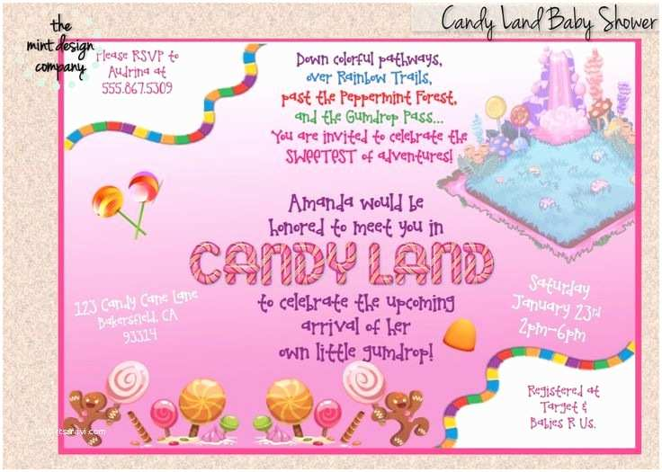 Candyland Baby Shower Invitations 101 Best Pretty Parties Images On Pinterest