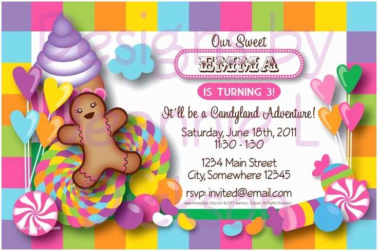 Candyland Baby Shower Invitations 17 Best Images About Candyland Birthday Party On
