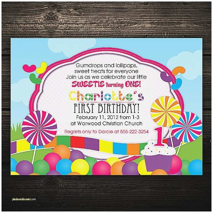 Candyland Baby  Invitations Baby  Invitation Best Candyland Baby