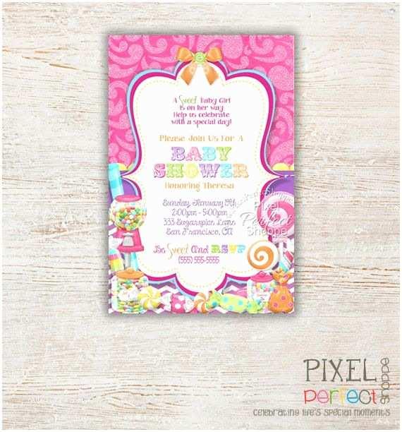 Candyland Baby Shower Invitations Baby Shower Invitation Girl Shower