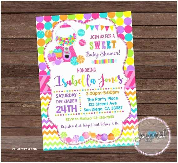Candyland Baby Shower Invitations Best 25 Candy Land Invitations Ideas On Pinterest