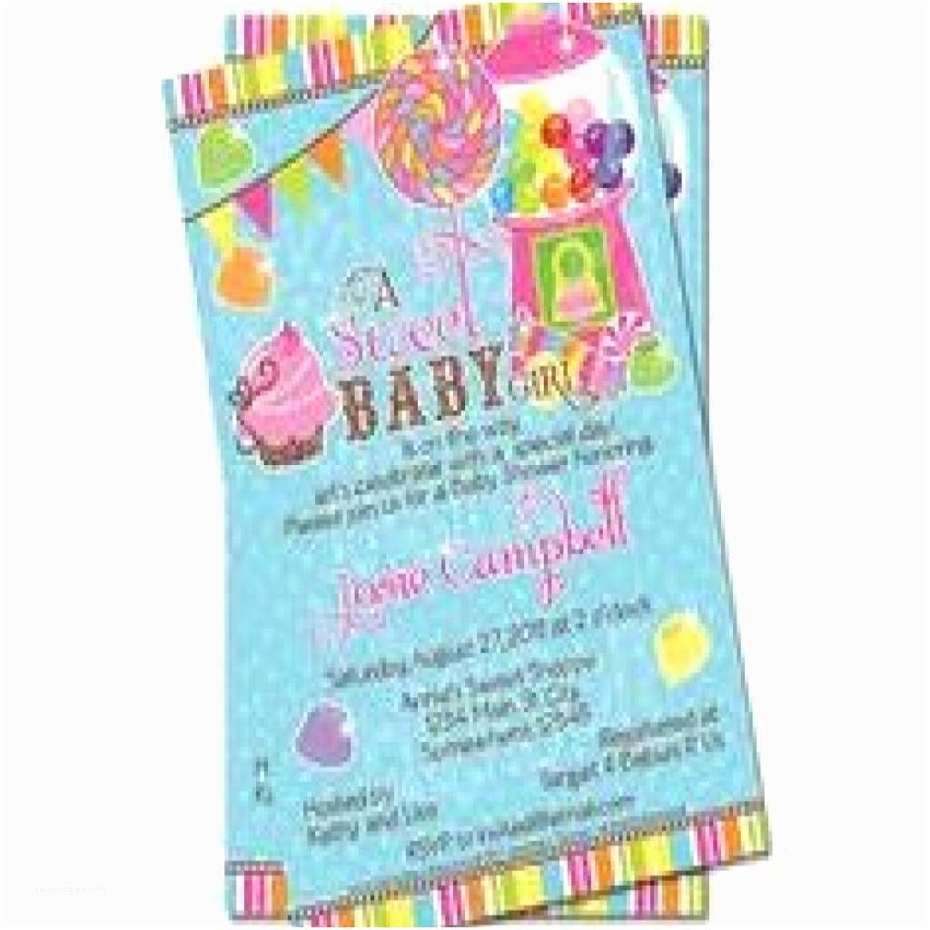 Candyland Baby  Invitations Candy Themed Baby  Invitations Gallery Baby