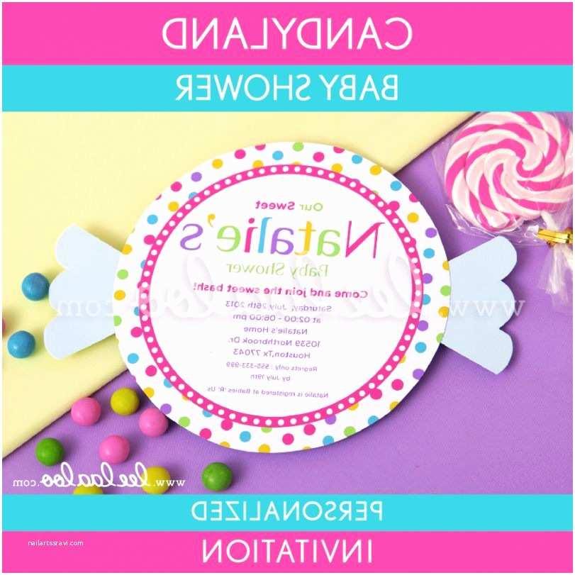 Candyland Baby Shower Invitations Candyland Baby Shower 4 Candyland Baby Shower Invitations