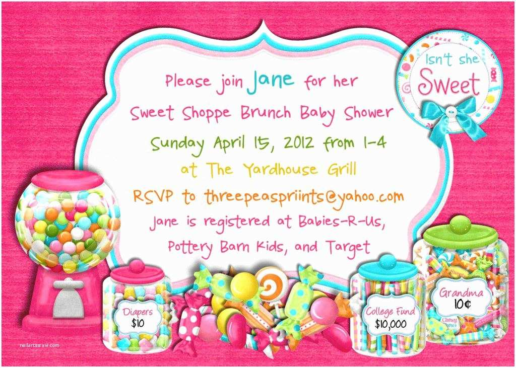 Candyland Baby Shower Invitations Candyland Baby Shower Ideas Party
