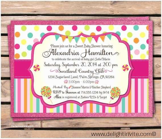 Candyland Baby Shower Invitations Candyland Baby Shower Invitation By Delightinvite On