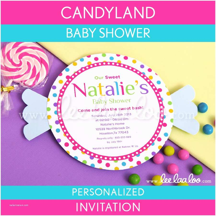Candyland Baby  Invitations Candyland Baby  Invitations Candyland Baby
