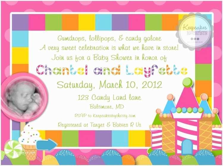 Candyland Baby Shower Invitations Candyland Baby Shower Invitations