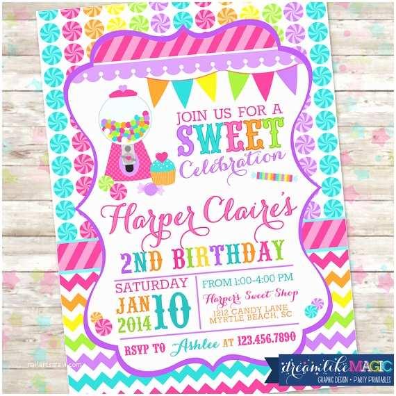 Candyland Baby Shower Invitations Candyland Invite  Shoppe  Shop Birthday