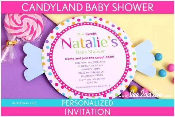 Candyland Baby Shower Invitations Etsy Your Place to and Sell All Things Handmade