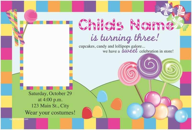 Candyland Baby Shower Invitations Free Printable Candyland Invitation Blank