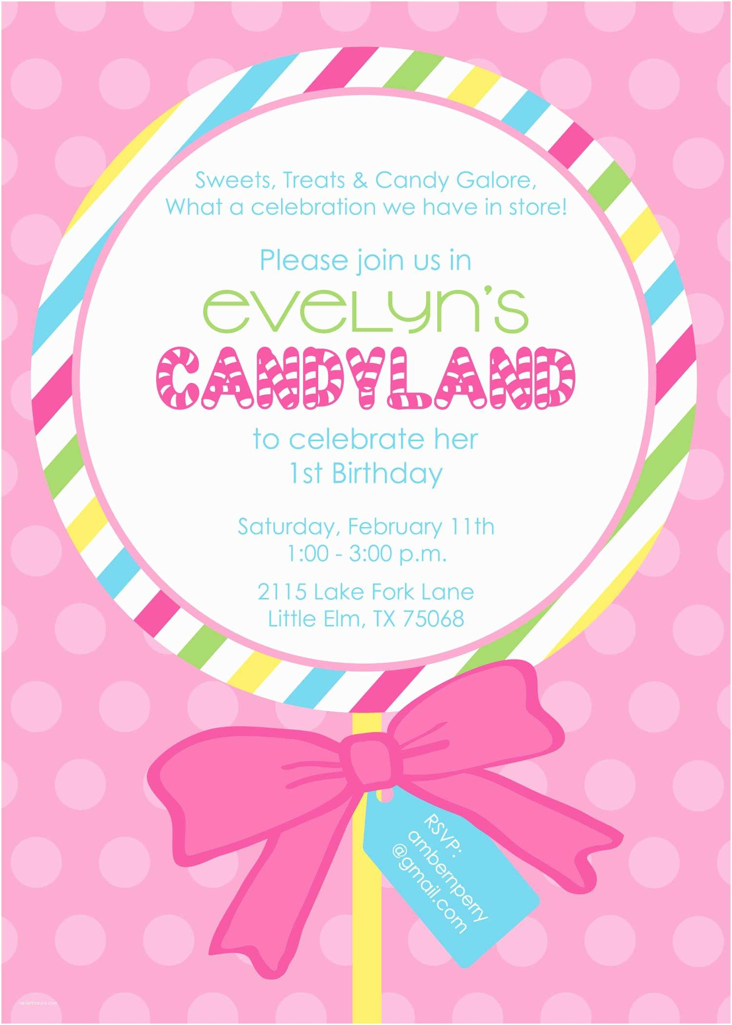 Candyland Baby Shower Invitations Invitations & Announcements By Kim Patton At