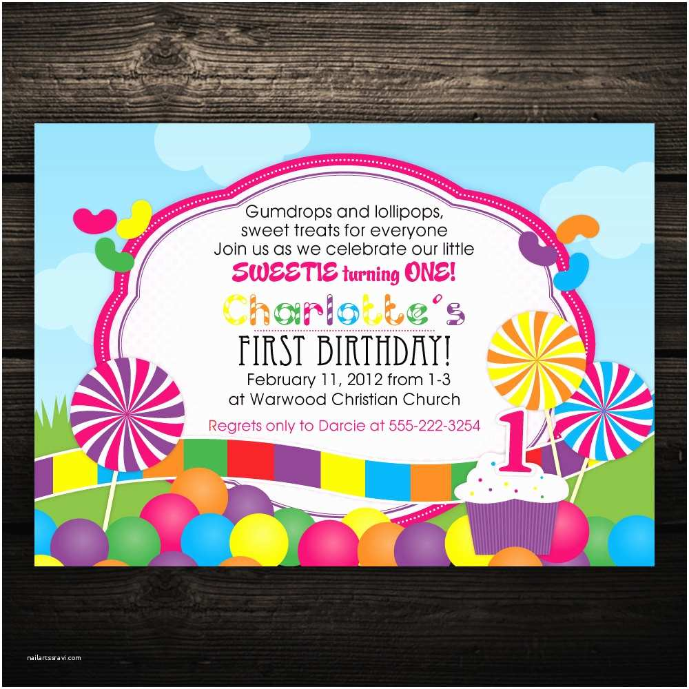 sweet candyland printable baby shower or