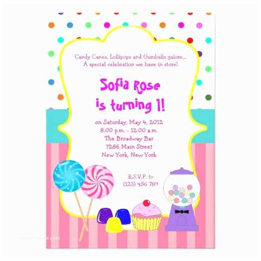 Candyland Birthday Invitations Candyland Sweet Shoppe Birthday Invitation