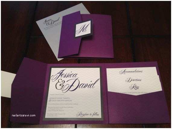 Cards and Pockets Wedding Invitations Best 25 Purple Wedding Invitations Ideas On Pinterest