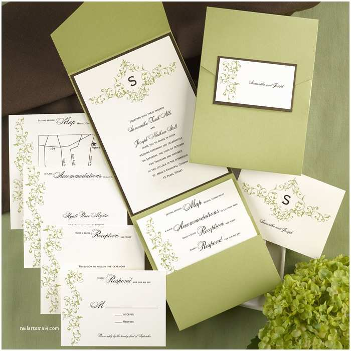 Cards and Pockets Wedding Invitations French Vintage Pocket Wedding Invitations Little Flamingo