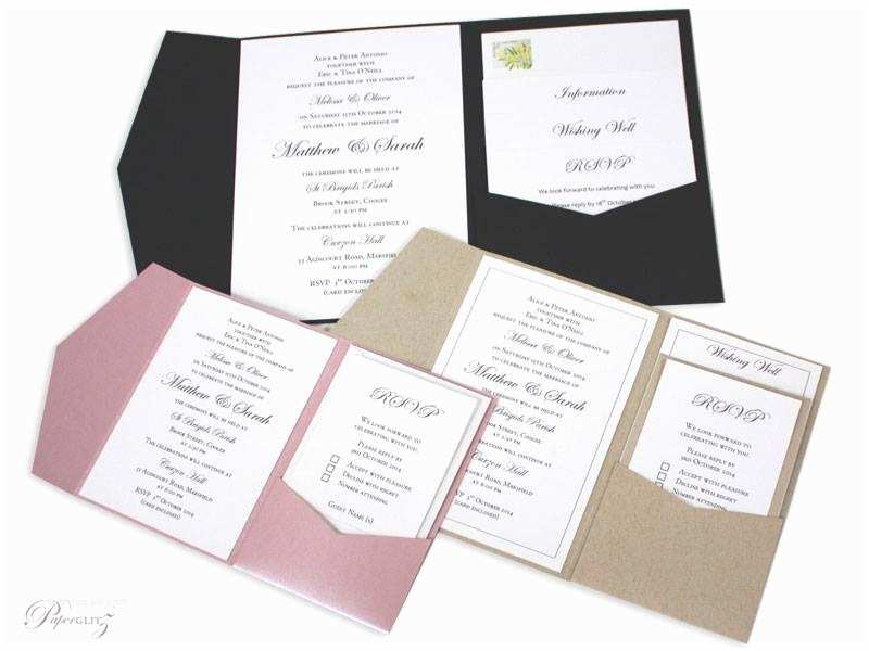 Cards and Pockets Wedding Invitations New Diy Pocket Folds – More Sizes