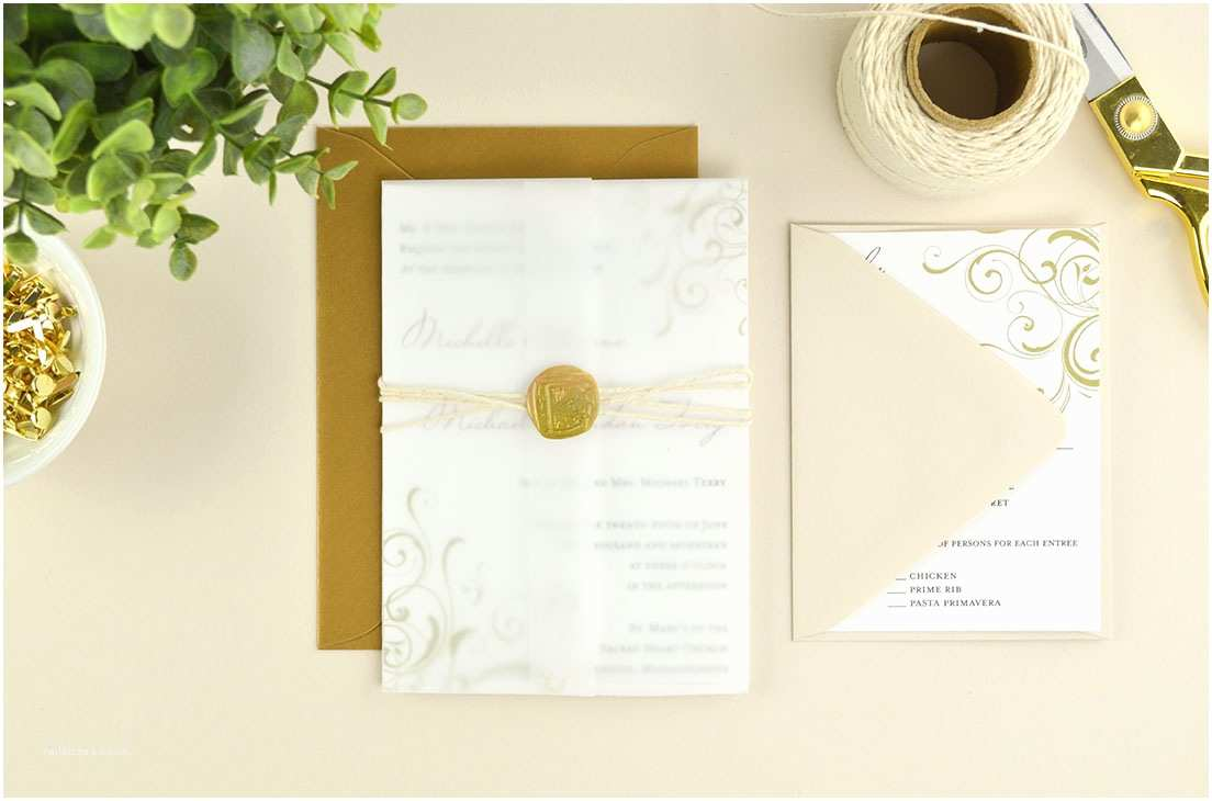 Cards and Pockets Wedding Invitations Ways to Diy Elegant Vellum Wedding Invitations Cards