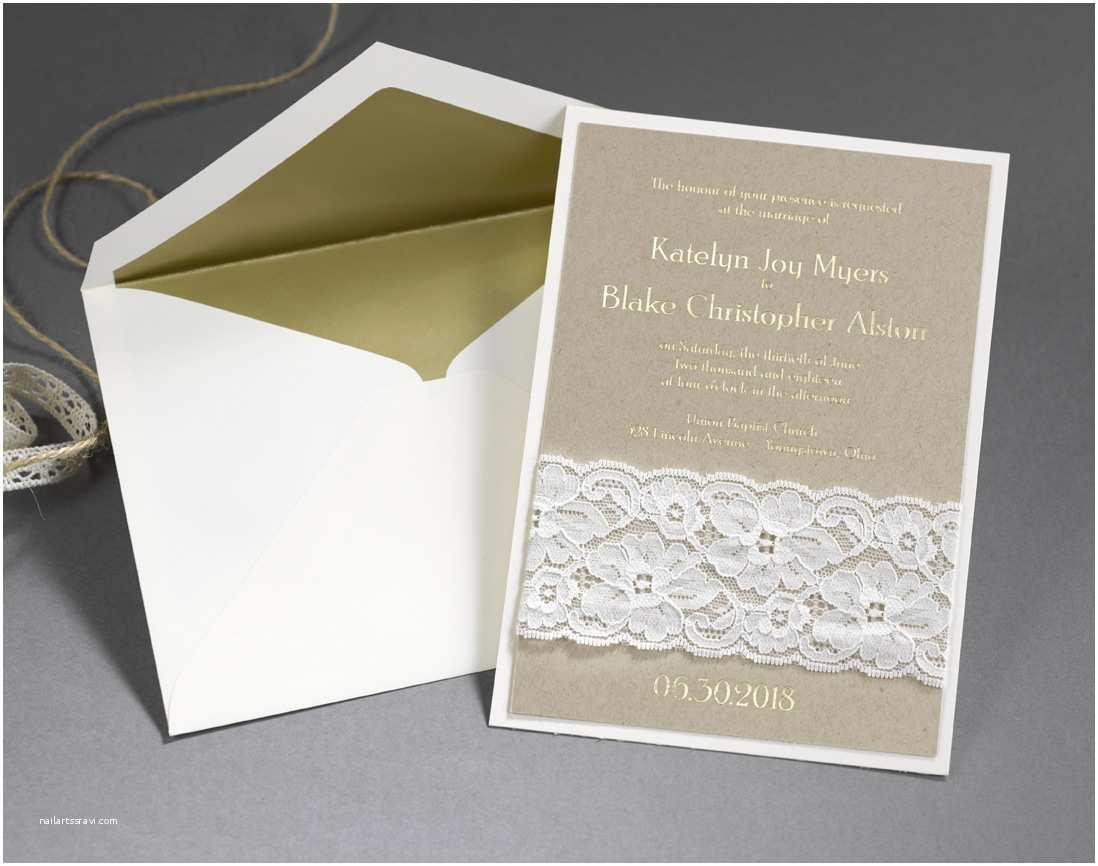 Carlson Craft Wedding Invitations Wedding Ideas Elegant Ways to Use Lace – Not On Your