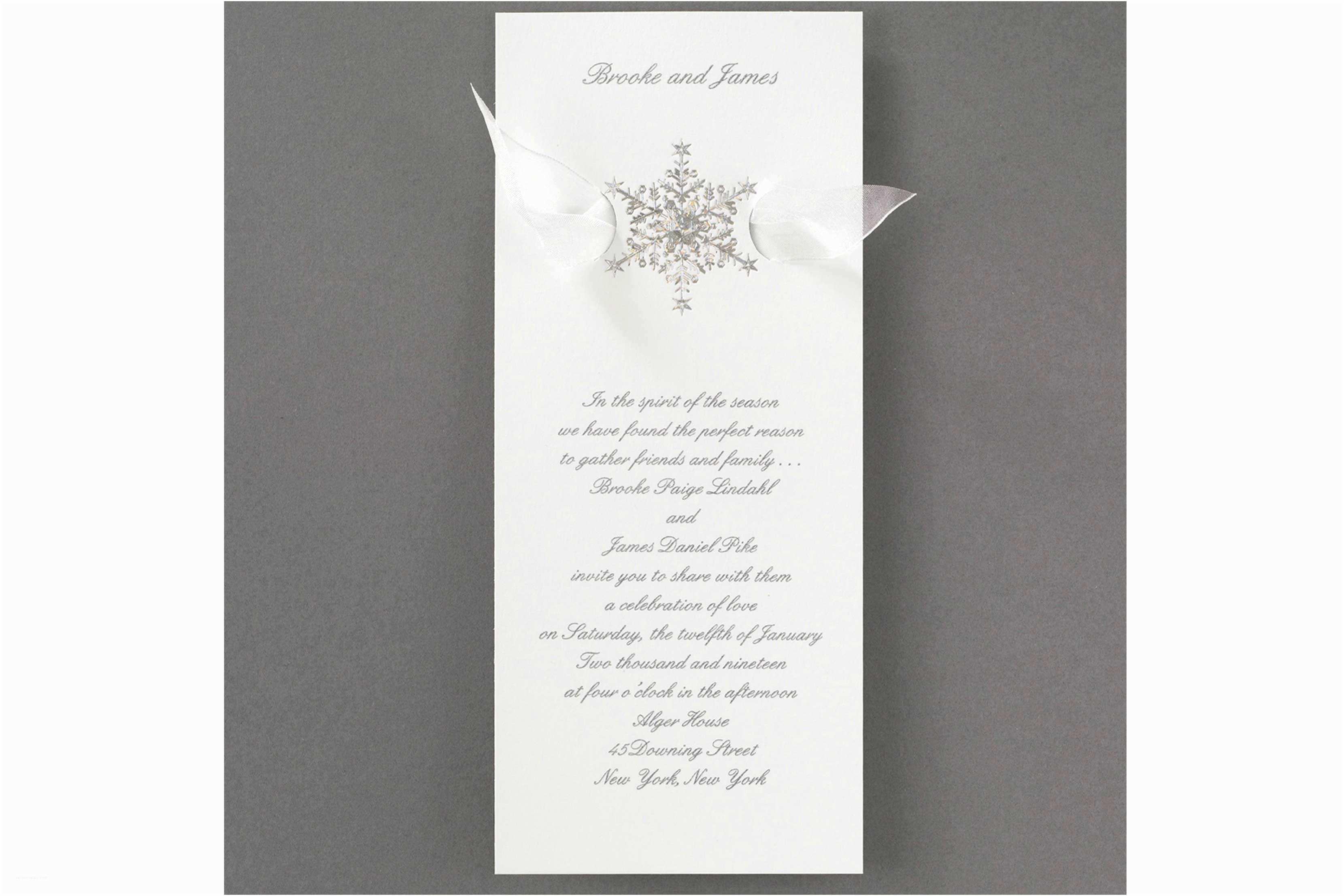 Carlson Wedding Invitations Winter Wedding Ideas Winter Wedding Invitations Inside