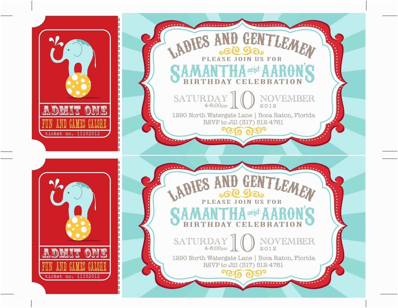 Carnival Birthday Invitations Carnival Birthday Party Invitations Circus Baby Shower