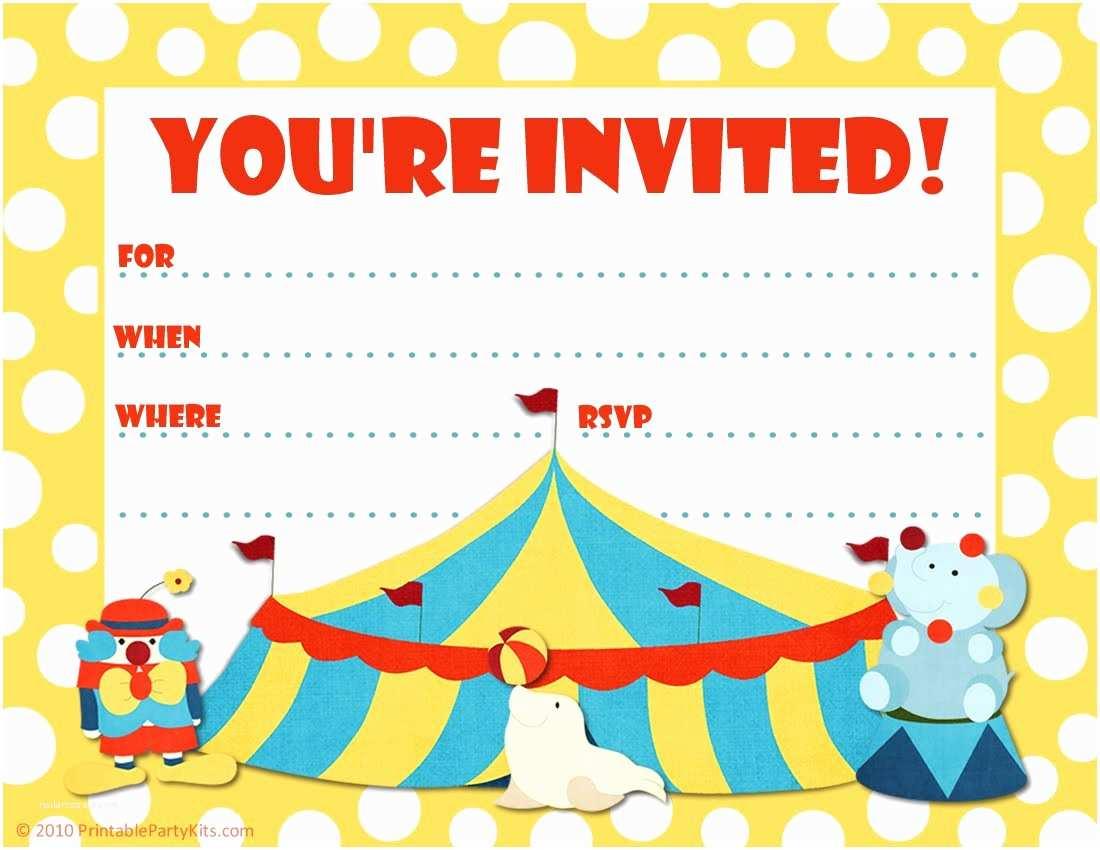 Carnival Birthday Invitations Ticket Invitation Template