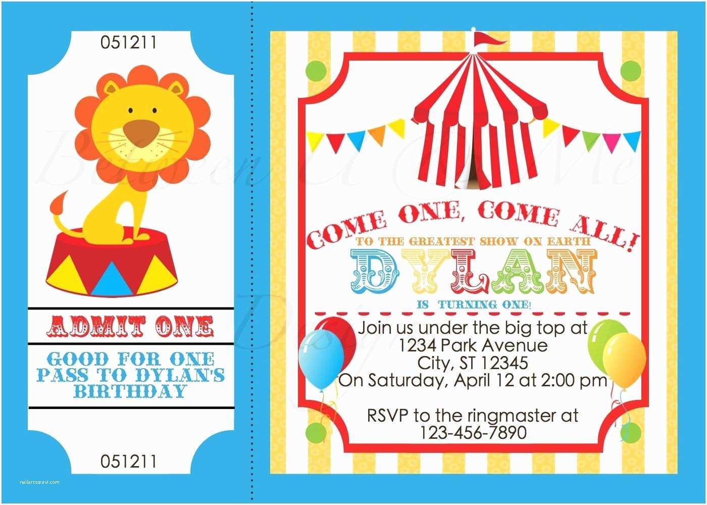 Carnival Birthday Invitations Invitation And
