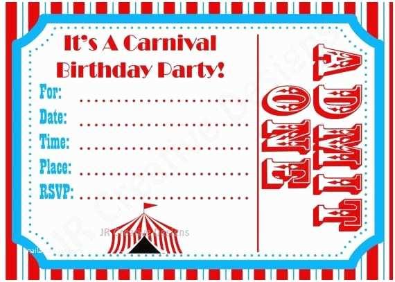 Carnival Birthday Invitations Free Carnival Birthday Invitations Template Google