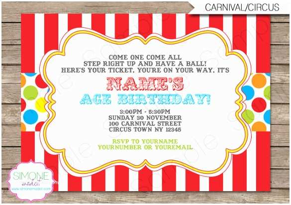 Carnival Birthday Party Invitations 26 Free Psd Vector Eps